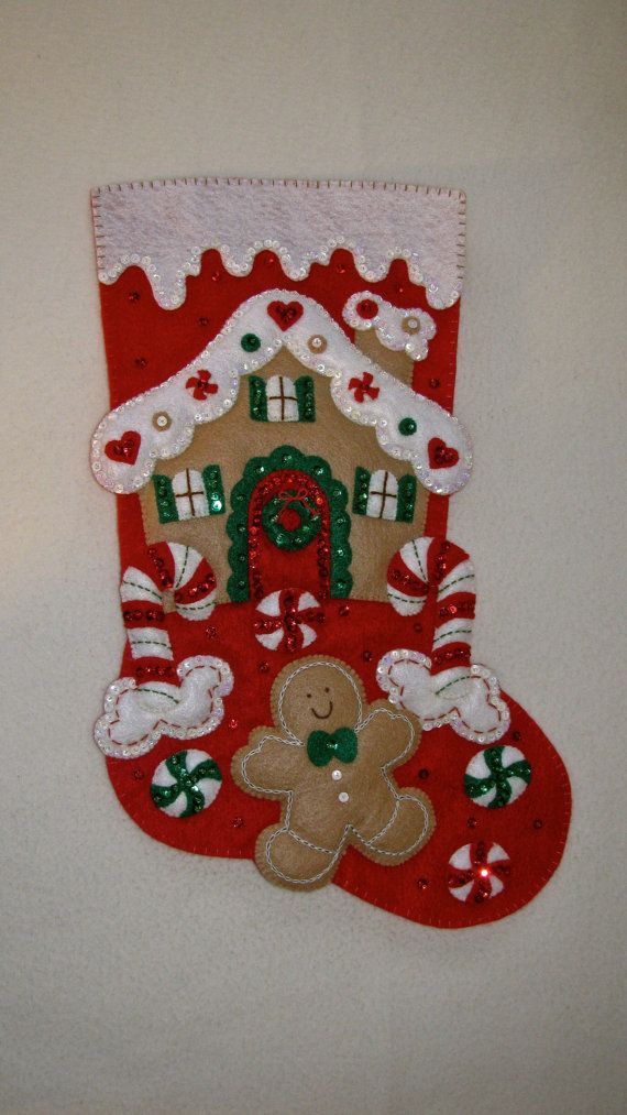Bucilla Gingerbread House completed by MissingSockStitchery