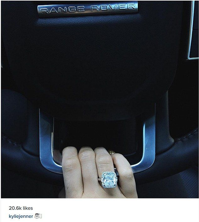 Engaged? Kylie Jenner shared a photo of a very large diamond engagement ring on Christmas day