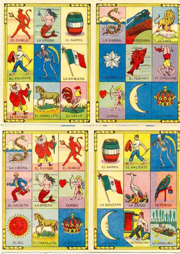 This is a graphic of Canny Printable Loteria Mexicana