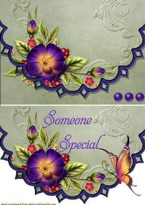 sapphire blue on Craftsuprint designed by Debra Jenkinson - Easy design that can be used as is just add your own words or with the shaped piece with words and butterfly added - Now available for download!