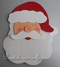 Weihnachtsmann Fensterbild - Wellpappe