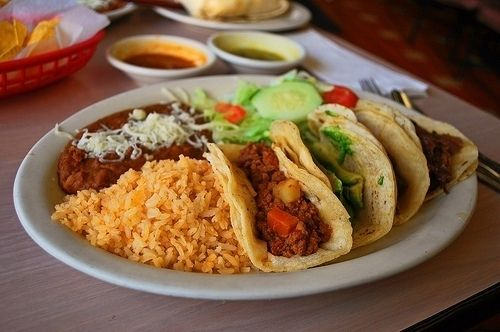 Does this look like a traditional Mexican meal? What appears to be Mexican here is