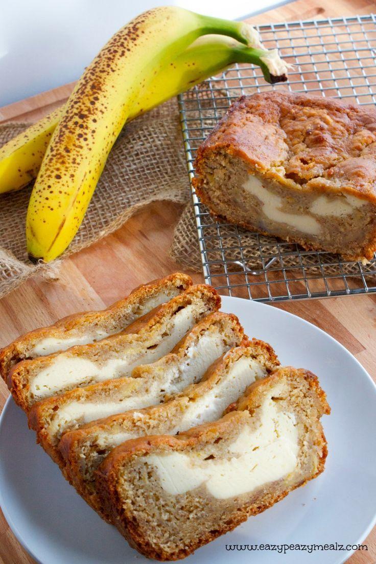 Cream Cheese Banana Bread: You will never want banana bread any other way again - Eazy Peazy Mealz