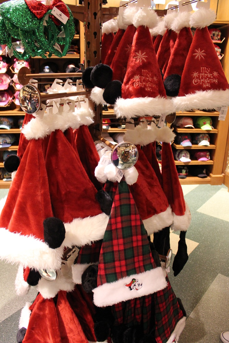 Mickey And Goofy Santa Hats 19 95 Infant 1st Christmas Hat 16 95 Sparkly Minnie Ear Headband