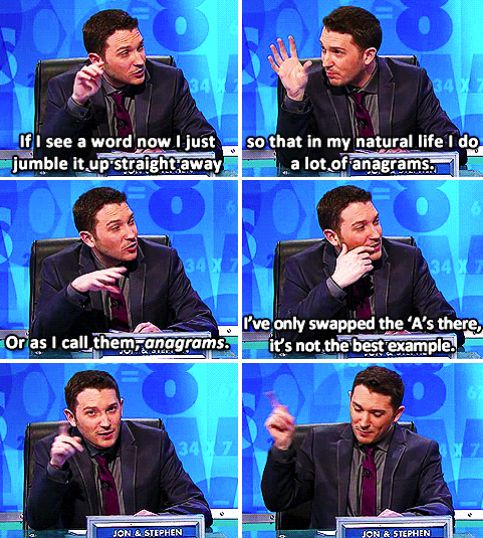 When Jon Richardson showed why he wins so frequently.