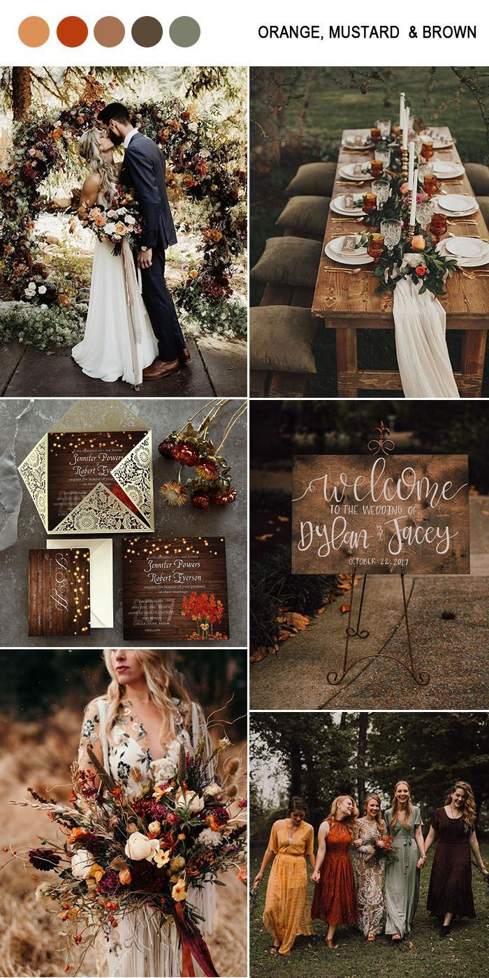 10 Amazing Fall Wedding Colors to Inspire in 2019-…
