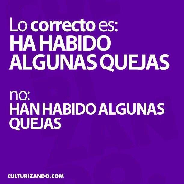 Recordatorio de ortografia. «Ha habido», no *«han habido» #espanol, #ortografia.