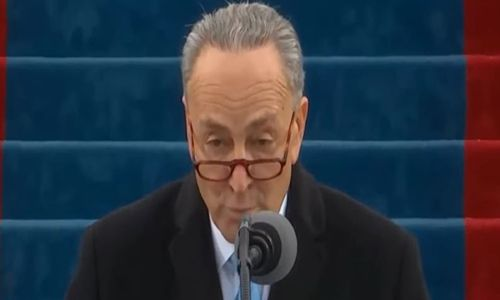 Out of touch with the American People:  Intolerant Chuck Schumer drowns in boos at Trump's inauguration | BizPac Review