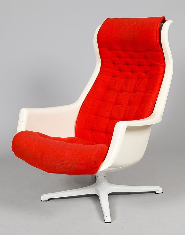 Alf Svensson U0026 Yngvar Sandström; Molded Plastic U0027Galaxyu0027 Chair For ...