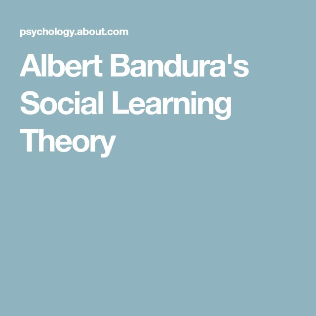Albert Bandura's Social Learning Theory