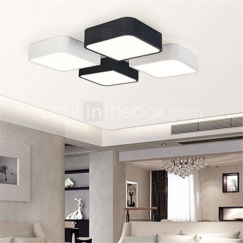 Modern Style Simplicity LED Ceiling Lamp Flush Mount Living Room Bedroom Kids Light Fixture