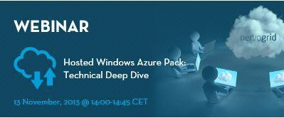 Join webinar on Hosted Windows Azure Pack! Register at: http://www.nervogrid.com/webinars #cloudcomputing #webinar
