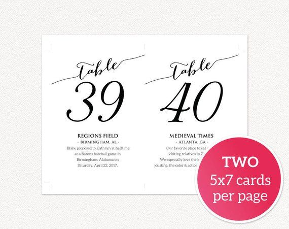 Tables 1 40 Fun Facts Printable Templates Table Numbers Etsy Template Printable Fun Facts Table Cards