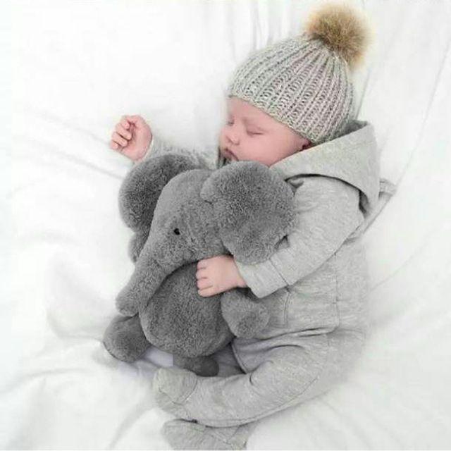 Elefante bonito Do Bebê Macia Bichos de pelúcia Boneca Travesseiro De Pelúcia Toy Kids Crianças Cama Decoração de Natal Bebês Almofada Brinquedos de Pelúcia
