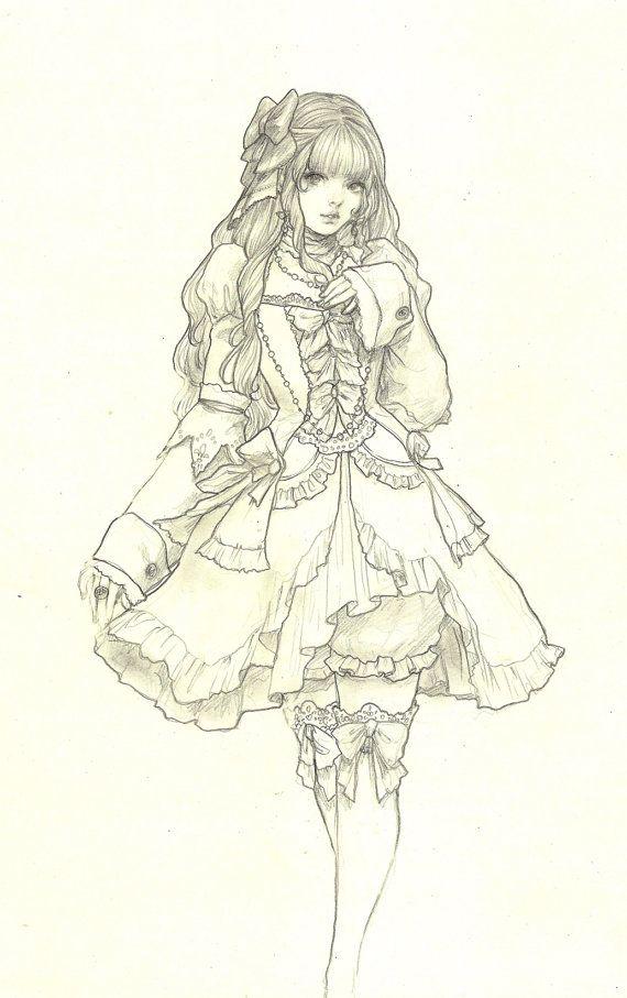 Elle  Original Drawing by jasmindarnell on Etsy
