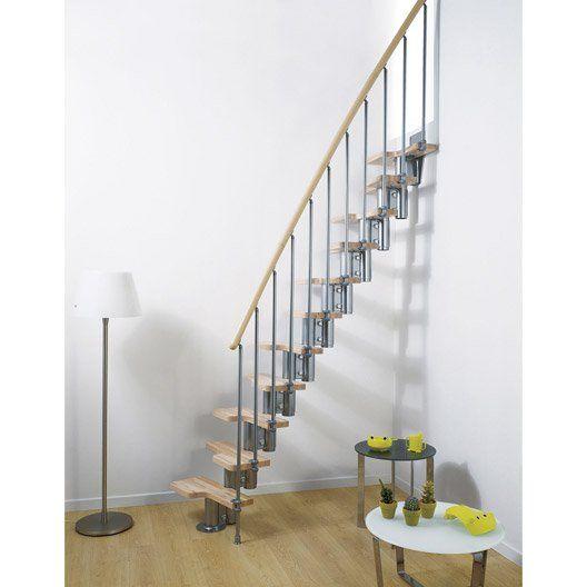 escalier_droit_mini__bois___metal_chrome