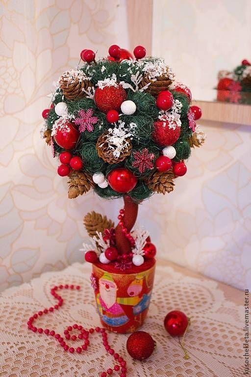 """Купить Топиарий """"Предновогодний снег"""" - топиарий, Новый Год, новогодний подарок, новогодний сувенир"""
