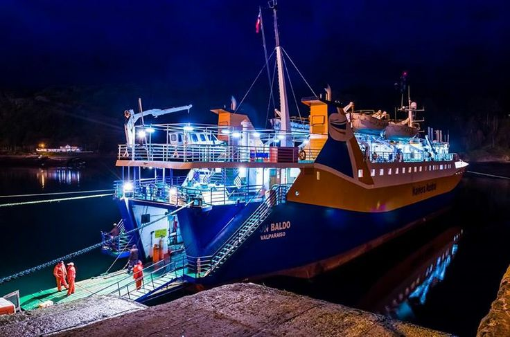 Don Baldo ferry getting ready to depart Puerto Montt for Chaiten | from TTE Informa Los Lagos https://www.facebook.com/tteinformaLosLagos