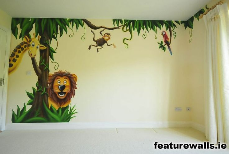 Best 25 kids room murals ideas on pinterest kids wall for Baby jungle mural