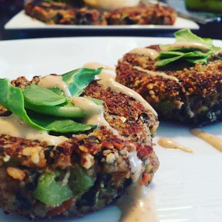 Tempeh wakame crab cakes vegan and gluten free crab