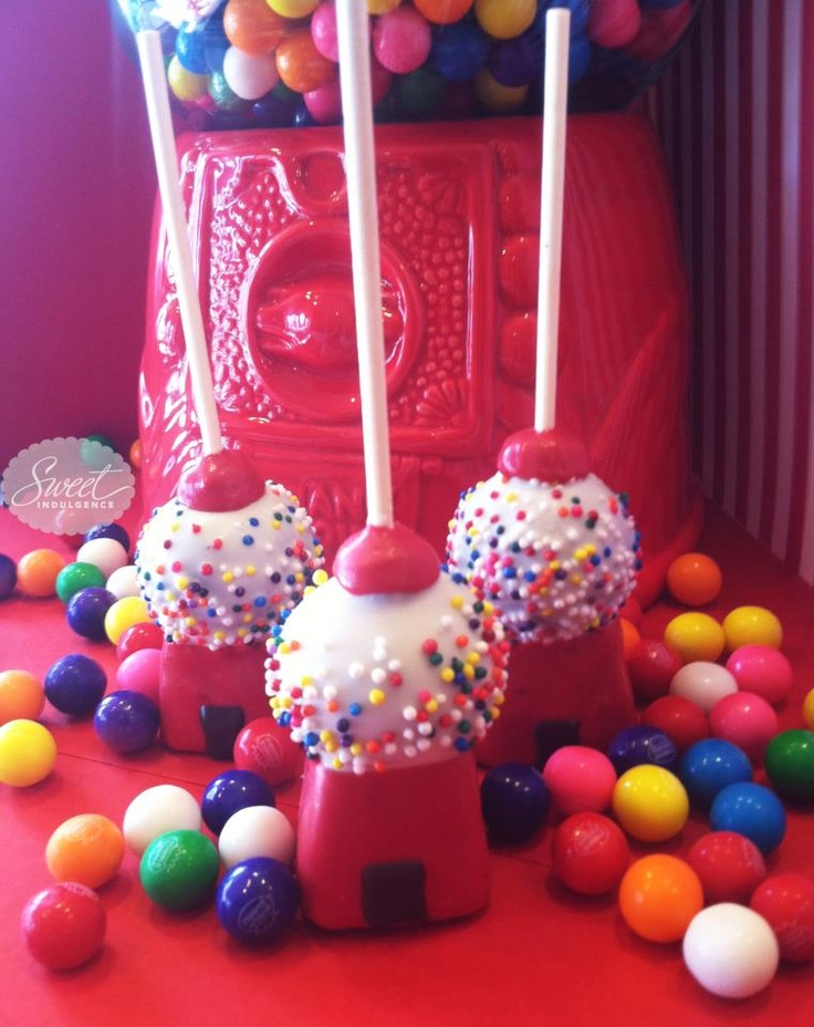 These are amazing gumball machine cake pops! From https://www.facebook.com/RareOccasions