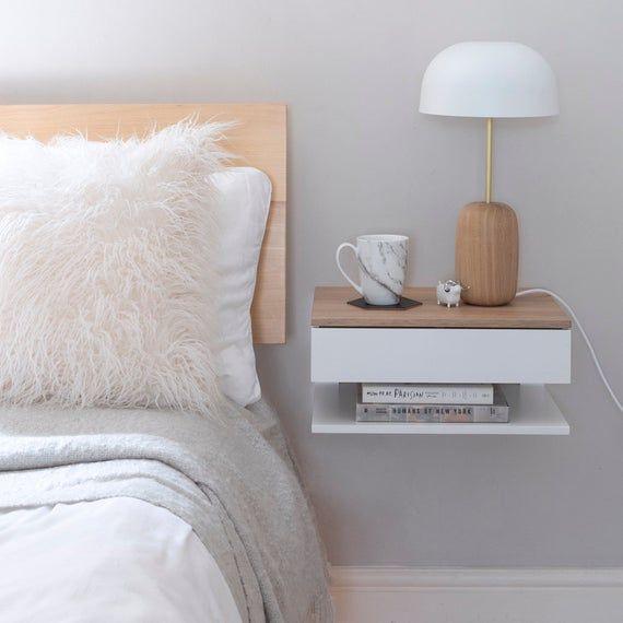 Floating Bedside Table Etsy Bedroom Night Stands Floating Bedside Table Bedroom Collection