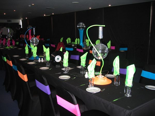 Table centrepieces for weddings banquets receptions and for 70s theme decoration ideas