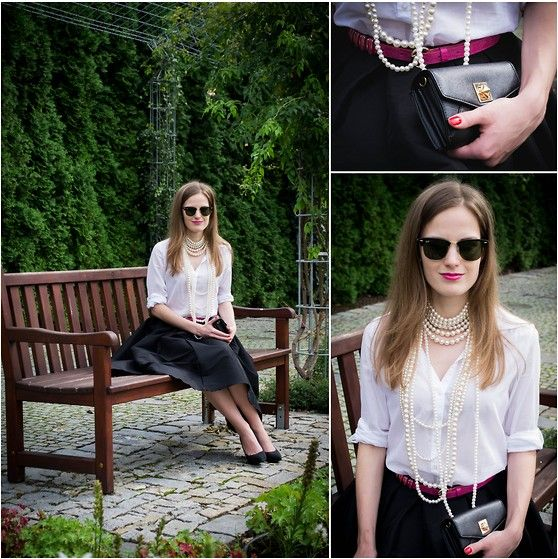 Como Usar: Camisa Branca + Acessórios  http://viroutendencia.com/2014/11/07/como-usar-camisa-branca/