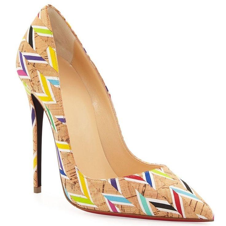 Yellow Chevron Print Stiletto Heels #Heels #Shoes
