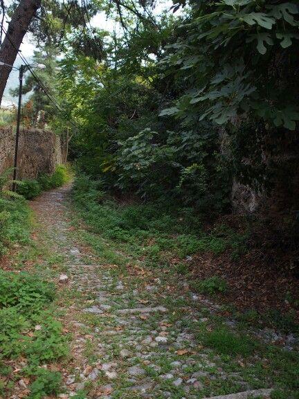 A small street in Varosi. Edessa city.