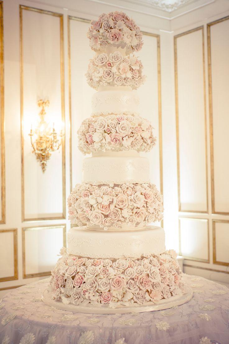 Miss USA Says I Do In A Glamorous Ballroom Affair Tall Wedding CakesWedding