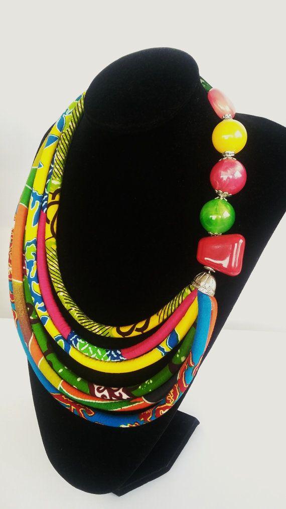 Collana africana multicolore di stampa gioielli etnici