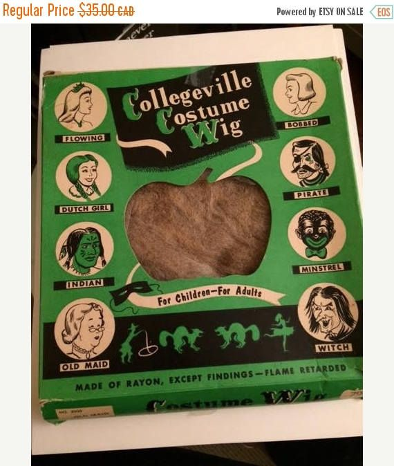 On Sale Collegeville Costume Wig Halloween Old Maid Wig in