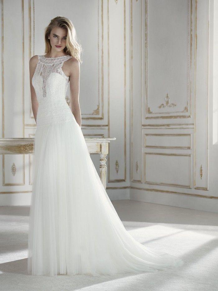 La Sposa - PALESA | Best designer wedding dresses - Jaehee Bridal Atelier    #aline #bateau #plunging #illusion #sweetheart #sleeveless #lace #bridal #weddingdress