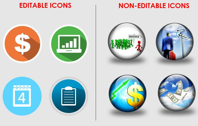 Types of Icons- Image Icons and Vector Icons