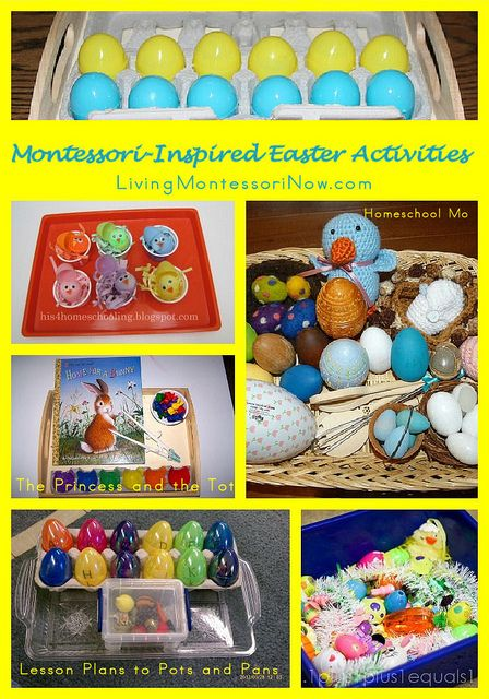 Montessori-Inspired Easter Activities - roundup with LOTS of ideas for home or school