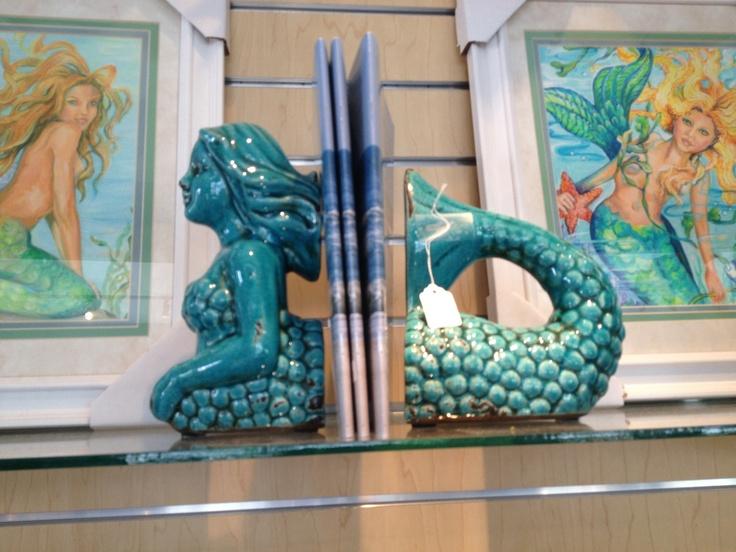 Mermaid bookends - mermaid nursery