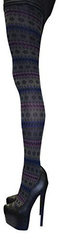 Sock Snob 40 Denier Designer Tights One Size 3642 Hip Aztec Design -- Continue to the product at the image link.