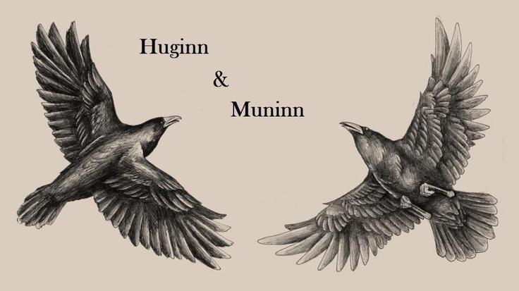Tattoo  Ravens Huginn  Odin Ravens  Vikings Ravens Tattoo  All FathOdins Ravens Tattoo