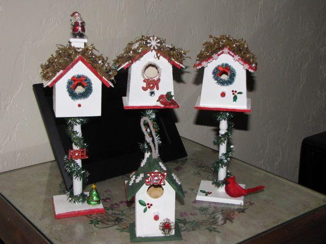110 best Christmas Birdhouses images on Pinterest | Christmas ...