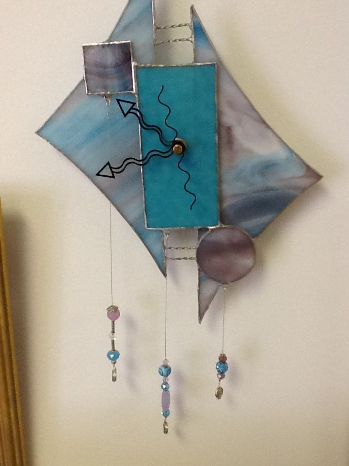 Stain glass clock ! So unique and inexpensive . Cool gift - at carousel stain glass monument beach, ma