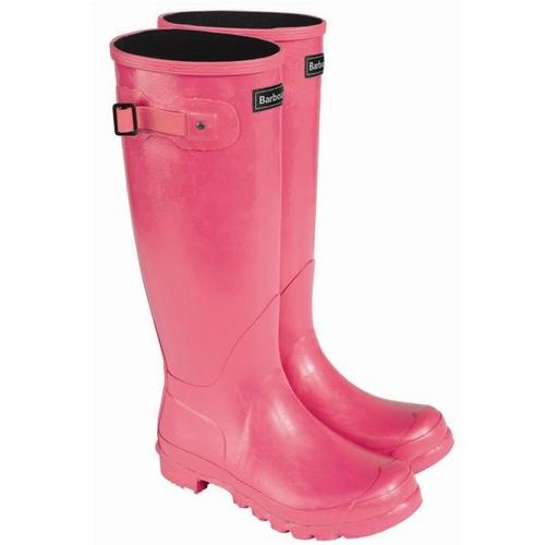 Pink Barbour wellies, please! Stocking up for fall at North River Outfitter.