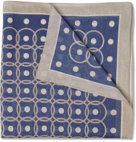 Boglioli Printed Cotton and Silk-Blend Pocket Square | MR PORTER