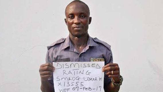 Nigerian Navy dismiss Officer for Possession of 14.55kg of Marijuana (Photo)