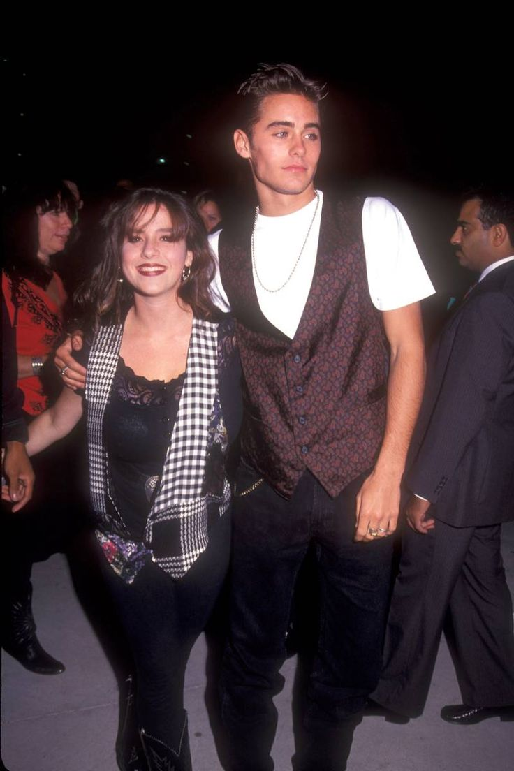 Soleil Moon Frye and Jared Leto - ages 15 and 19, in 1991.