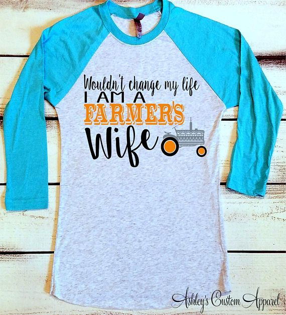 Farmer's Wife Shirt Farm Wife Tshirt Proud Farmers Wife