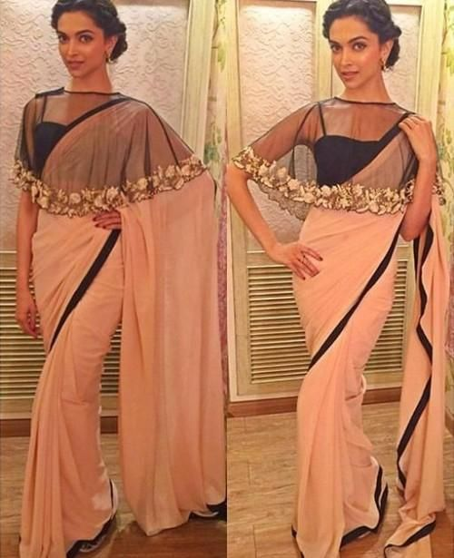 6c6e70ef114 Net Cape Style Blouse for Saree with Latest Design