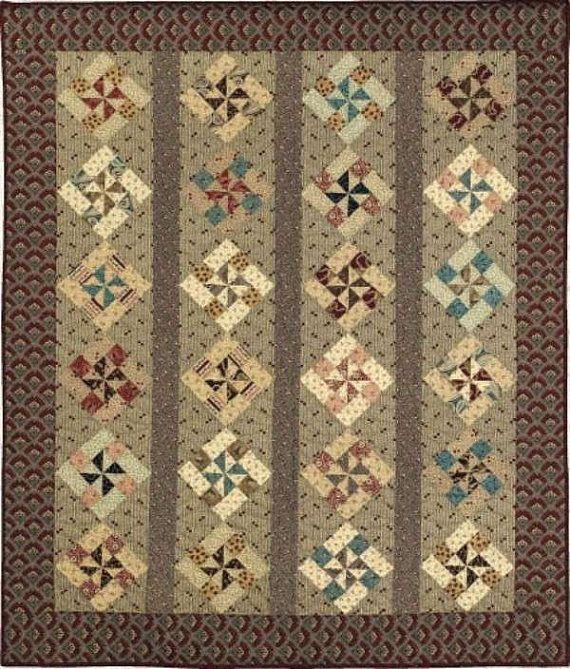 Primitive Folk Art Quilt Pattern  Honeysuckle by PrimitiveQuilting, $8.00