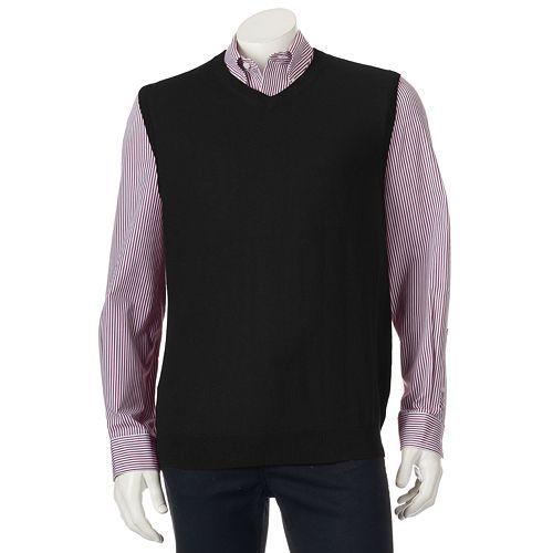 Croft & Barrow® Classic-Fit 12gg Sweater Vest - Big & Tall