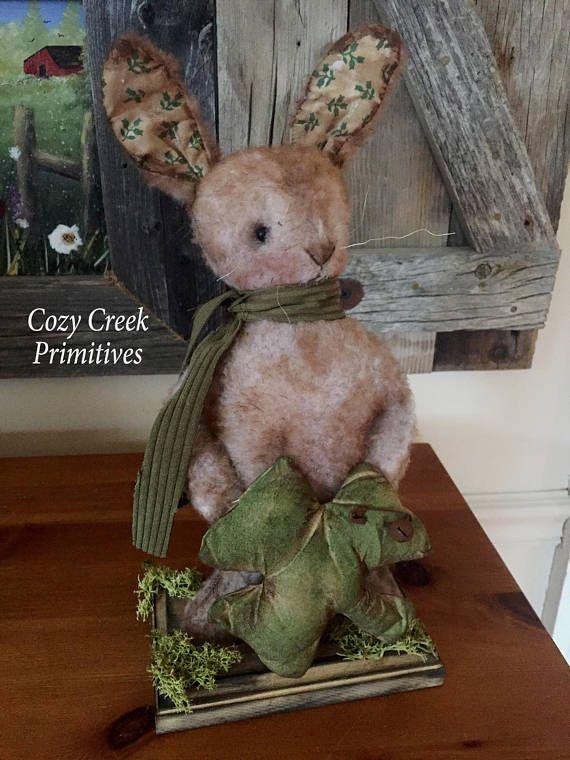 Primitive Handmade BunnyIrish BunnySt Patricks Day